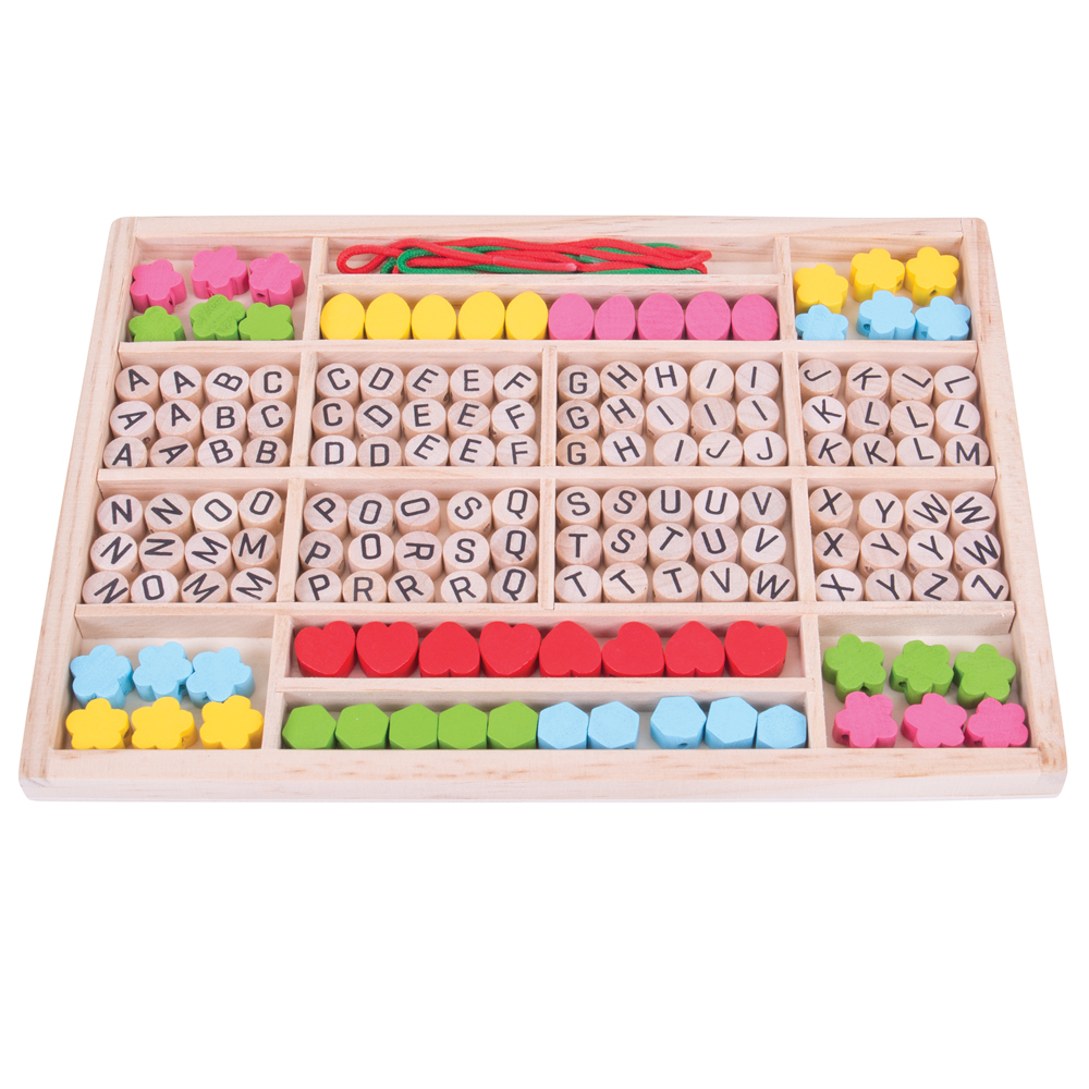 Bigjigs Toys Wooden Mini Jewellery Kit Lacing Kids Children/'s Beads Roleplay
