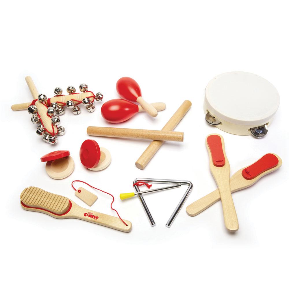 Tidlo InstruSiets de musique  s en bois Set (14 pièces) s En savoir Jouer