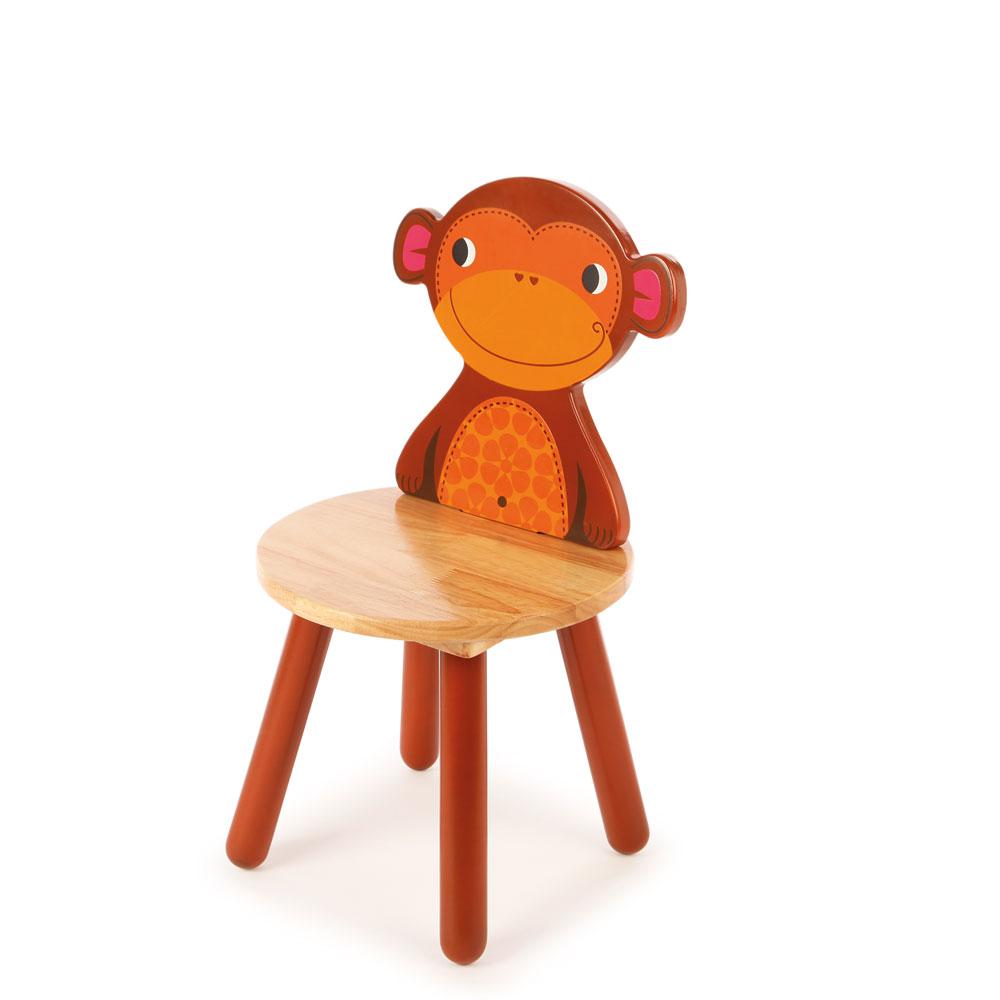 Tidlo Chaise en bois - Singe